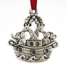 Pewter Noah's Arc #Christmas Ornament #thingsengraved #thingsengravedgifts