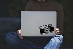 Retro Camera Macbook Decal / Ipad Decal / Laptop by DaisyDecals, $7.99