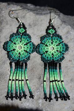 Huichol Peyote Beaded Earrings via Etsy