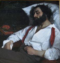 (the sleeping man) L'Homme endormi 1861 | Oil on canvas | 870 x 850 mm   ::   Musée des Beaux-Arts, Lille by Carolus-Duran (Durand, Charles Auguste Émile) | 1837-1917