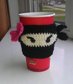 Ravelry: Ninja Cup Cozy pattern by Jonna Ventura