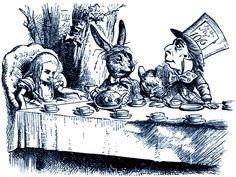 **FREE ViNTaGE DiGiTaL STaMPS**: Free Digital Stamp - Alice in Wonderland...Tea Party