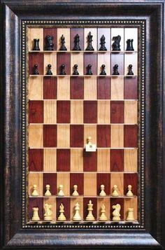 Craft / DIY idea :: vertical chess board in a frame