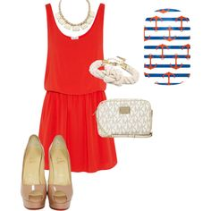 """""""Nautical Day Out"""" by jessicajeanhanna on Polyvore  Find your Nautical Nails at http://jessicajean.jamberrynails.net"""
