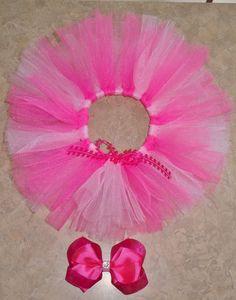 Newborn pink tutu and hair bow!