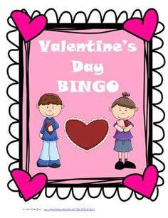 Valentine's Day Bingo Game Activity for Students $