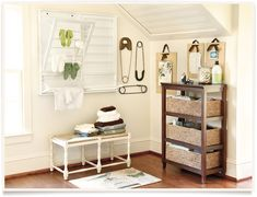 wicker baskets, laundry room storage, laundry area, laundry rooms, sewing rooms, laundri room, ballard design, boards, dri rack