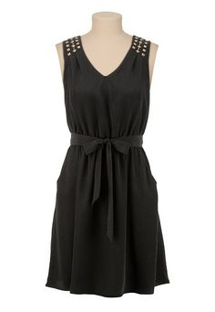 V-Neck Stud Shoulder Tank Dress available at #Maurices