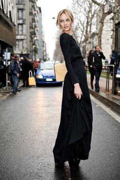Candice Swanepoel - all black