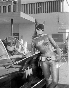 """Batman (1966-68) Adam West as Batman & Yvonne Craig as Batgirl"