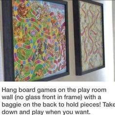 Board games hanging art- kids room