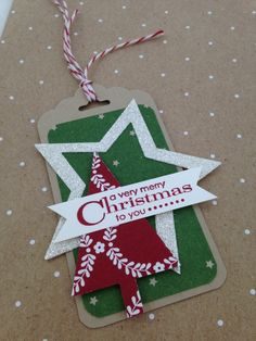 Star tree tag Stampin' Up!
