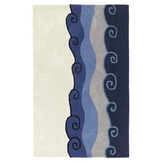 Hand-tufted wool-blend rug. 5' x 8' $252