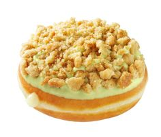 Key Lime Pie Doughnut: Filled with a blend of key lime and custard filling and topped with key lime icing and  graham crumbles. (Available starting 3/31/14 at participating US and Canadian Shops)