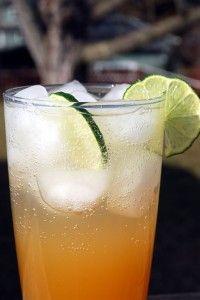 Gingered bourbon sour