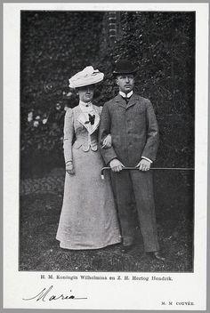 Queen Wilhelmina and Duke Heinrich of Mecklenburg-Schwerin, 1901