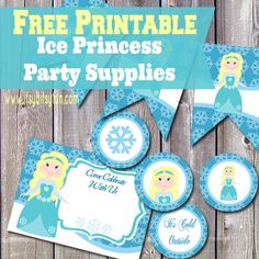 Ice Princes Party Supplies Free Printable - Prefect for Frozen party