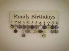 craft, family birthdays, diy art, gift ideas, famili birthday, birthday board, art kids, families, diy projects