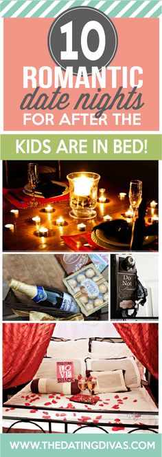 Romantic dates nights for after you put the kids to bed. Brilliant! www.TheDatingDivas.com