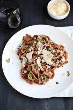 One-Pot Red Wine Pasta - A Beautiful Mess