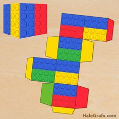 Click here to download FREE Printable LEGO Brick Treat Boxes!