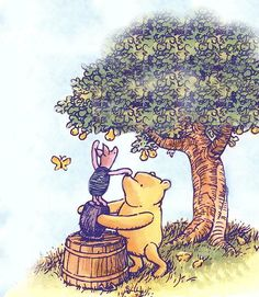 Winnie the pooh on pinterest eeyore winnie the pooh and for Classic pooh mural