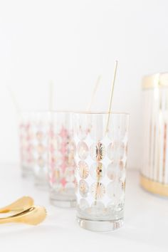 DIY reusable gold drink stirrers | sugarandcloth.com