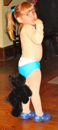 DIY coppertone baby costume
