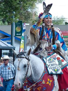 Native American Princess greets parade spectators at the 101st Pendleton Roundup in Pendleton, Oregon by mharrsch, via Flickr