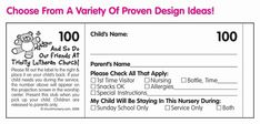 Two Part Custom Nursery Labels