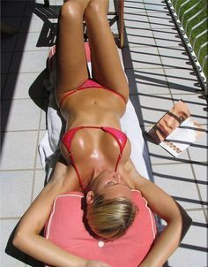 laying out
