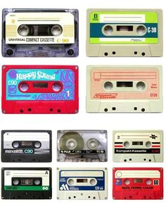 Cassettes - I used to sit next the radio with my fingers ready to hit Play + Record so I could record my latest fav song off the radio.