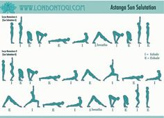 Sun Salutation Yoga Workout-my favorite yoga sequence. All over body strength training & an amazing stretch