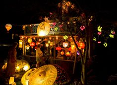 Martha's Vineyard: Illumination Night in Oak Bluffs by Cynthia Blair  If you can handle the crowds, it's lovely.