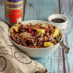 Pineapple and Pulled Pork Salad HealthyAperture.com