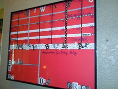 cute dry erase frame calendar