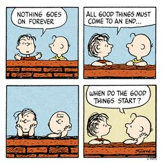Thursday with Charlie Brown and Linus.