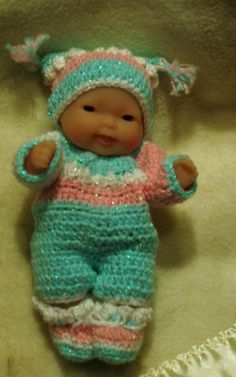 """Popcorn Bubbles Playsuit FOR 5"""" DOLL - RAVELRY"""