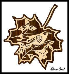 Scrollsaw Workshop: Bird in a Leaf Scroll Saw Pattern.