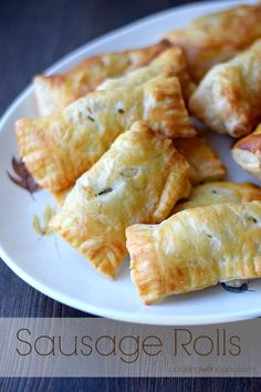 Sausage Rolls Recipe ~ made using puff pastry