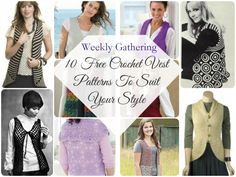 Looking for a great wardrobe staple that is perfectly suited to your style? Check out these 10 free #crochet vest patterns!