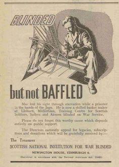 Scottish National Institution for War Blinded. 26 June, 1950.