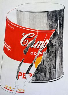 Andy Warhol (American, 1928-1987)       Big Torn Campbell's Soup Can (Pepper Pot), 1962       casein and graphite on canvas       71 5/8 x 52 in. (181.9 x 132.1 cm.)      The Andy Warhol Museum, Pittsburgh; Founding Collection, Contribution The Andy Warhol Foundation for the Visual Arts, Inc.      © The Andy Warhol Foundation for the Visual Arts, Inc.     1998.1.31