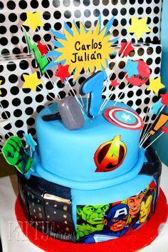 Awesome superhero cake