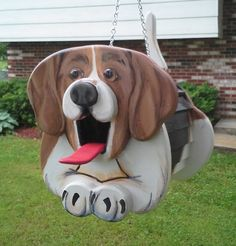 Beagle Dog Birdhouse or Feeder by MyCountryHaven on Etsy, $60.00