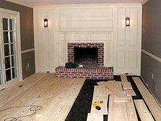 Fireplace remodel.