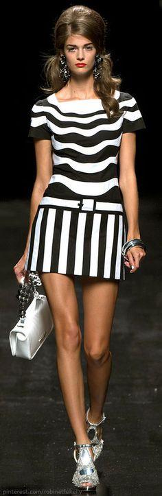 negro, fashion, style, cloth, bw stripe, black white, moschino spring, moschino dress, blanco