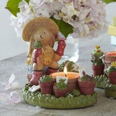 Darling little bunny harvesting carrots from his vegetable garden. Candle holder by PartyLite http://www.partylite.biz/legacy/sites/nikkihendrix/productcatalog?page=productdetail&sku=P90676&categoryId=55268&showCrumbs=true