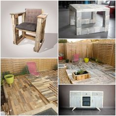 Tomorrow Design - La recyclerie inventive #Creations, #Creative, #Design, #Pallets--that chair!