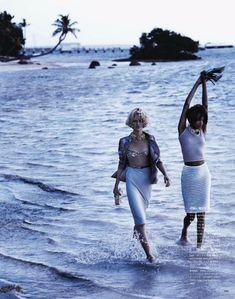 Jourdan Dunn & Daria Strokous by Josh Olins for Vogue Japan April 2012
